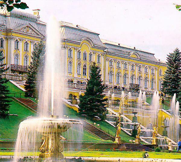Здания и сооружения: К.-Б. Растрелли. Большой дворец Петергофа
