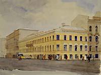 Г.И.Келлих. Изображение Литейного пр. в Петербурге.