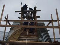 Работа Плотницкого центра на церкви Воскрешения Лазаря
