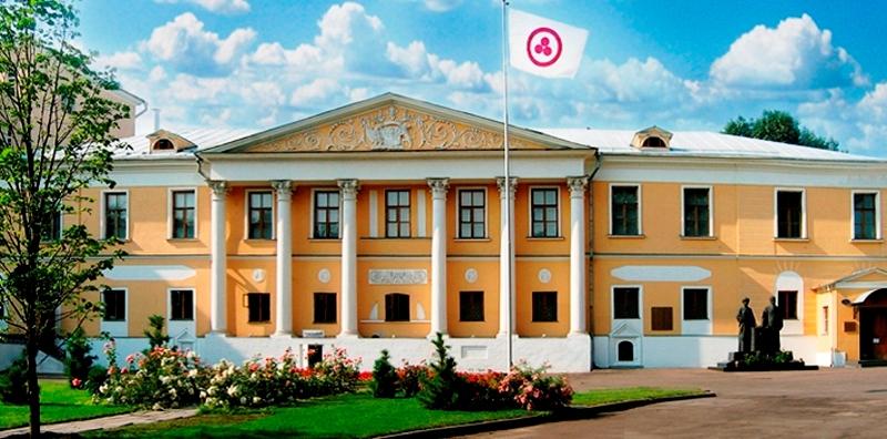 Здания и сооружения: Знамя Мира над Международным Центром Рерихов