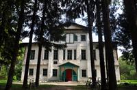 Лиственничная аллея перед усадебным домом актрисы Г.Н. Федотовой