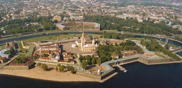 Здания и сооружения: Панорама Петропавловской крепости