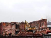 Исторические казармы в Сокольниках после сноса
