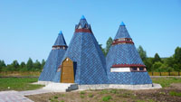 Село Паспаул. Выставочные аилы
