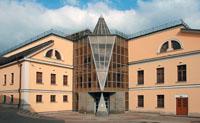 Новое здание Музея личных коллекций. Вид с Волхонки.