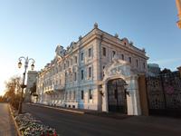 Фасад главного здания Усадьбы Рукавишниковых