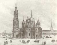 Проект Исакиевского собора. Архитектор Антонио Ринальди. 1768