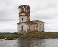 Разрушенная церковь Николая Чудотворца в Сенной Губе