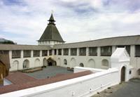 Астраханский кремль. Вид Артиллерийского двора