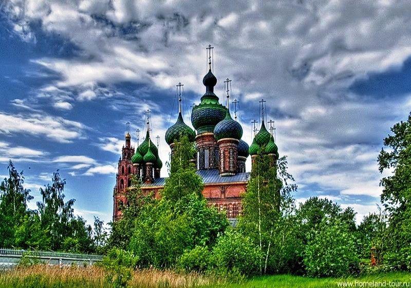 Здания и сооружения: Ярославль. Церковь Иоанна Предтечи в Толчкове, XVII век.