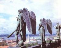 Здания и сооружения: Ангелы Исаакиевского собора. Скульптор И. Герман